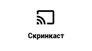 Кнопка скринкаст